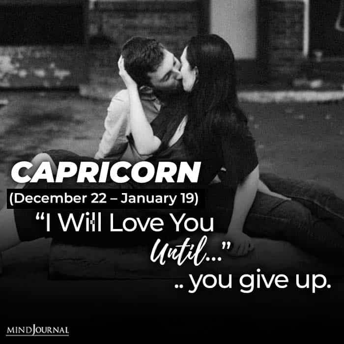 i will love you until capricorn