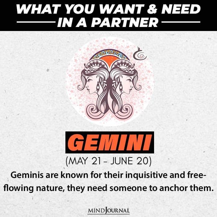 one thing partner needs gemini