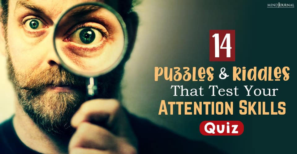 puzzles and riddles that test your attention skills