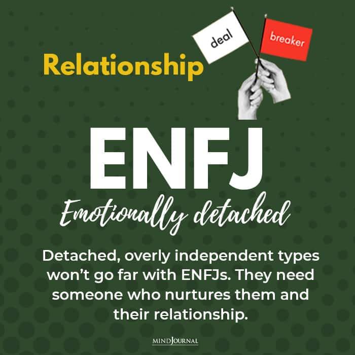 relationship deal breaker enfj emotionally detached
