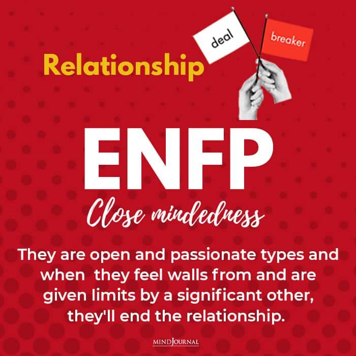 relationship deal breaker enfp close mindedless