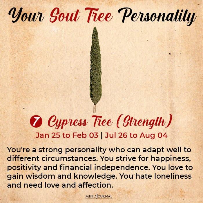 soul tree astrology cypress
