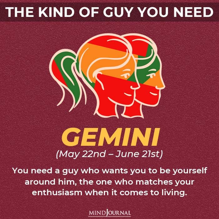 the kind of guy you should be looking for based on your zodiac sign gemini