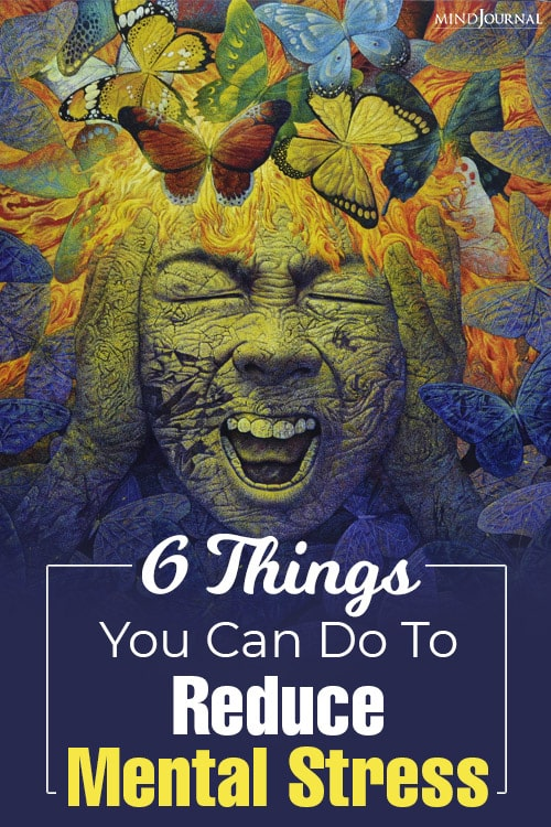 things you can do to reduce mental stress pin