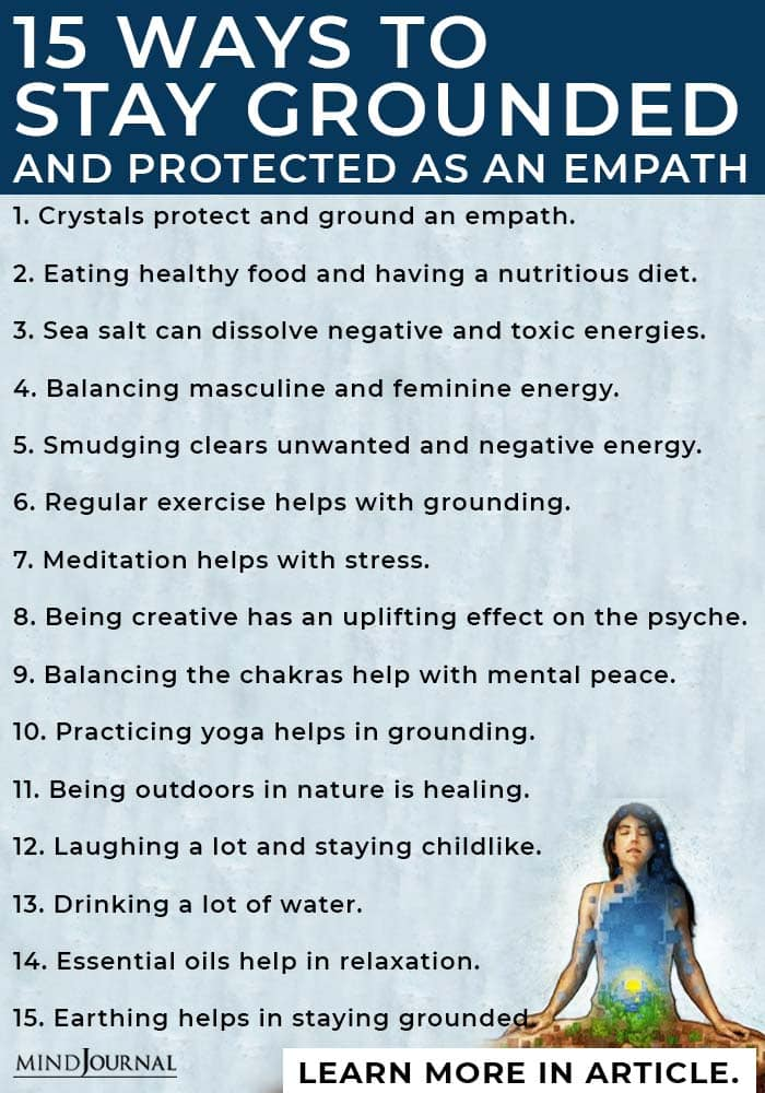 ways to stay grounded and protected as an empath info