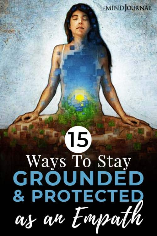 ways to stay grounded and protected as an empath pin