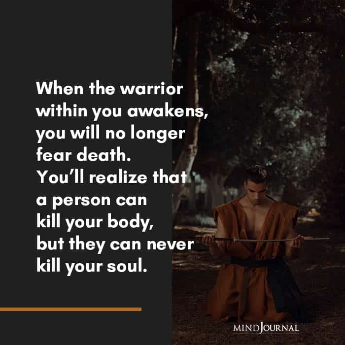 when the warrior within you awakens