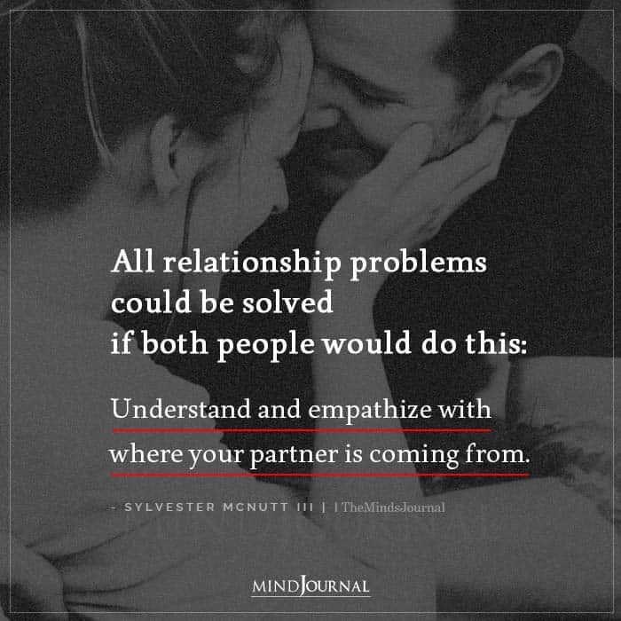 All relationship problems could be solved