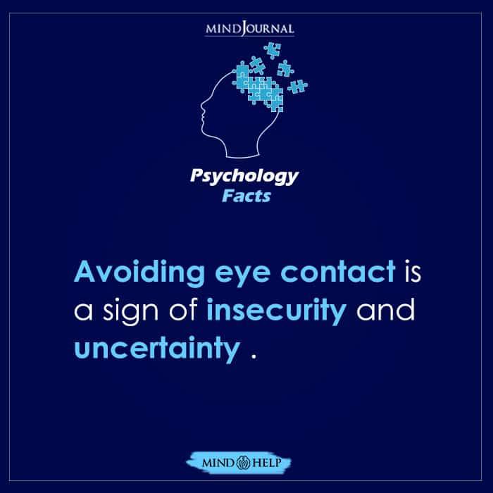 Avoiding Eye Contact Is a