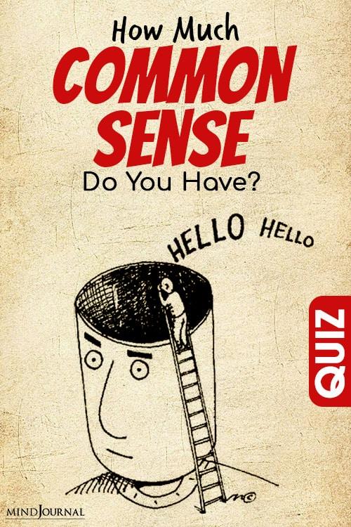 Common Sense Do You Have pin