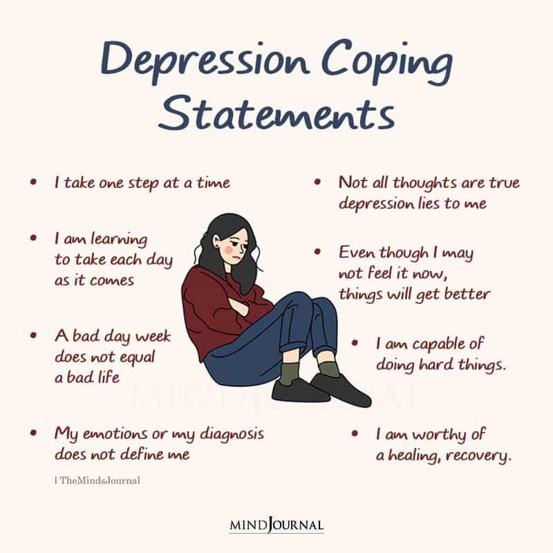 depression coping statements