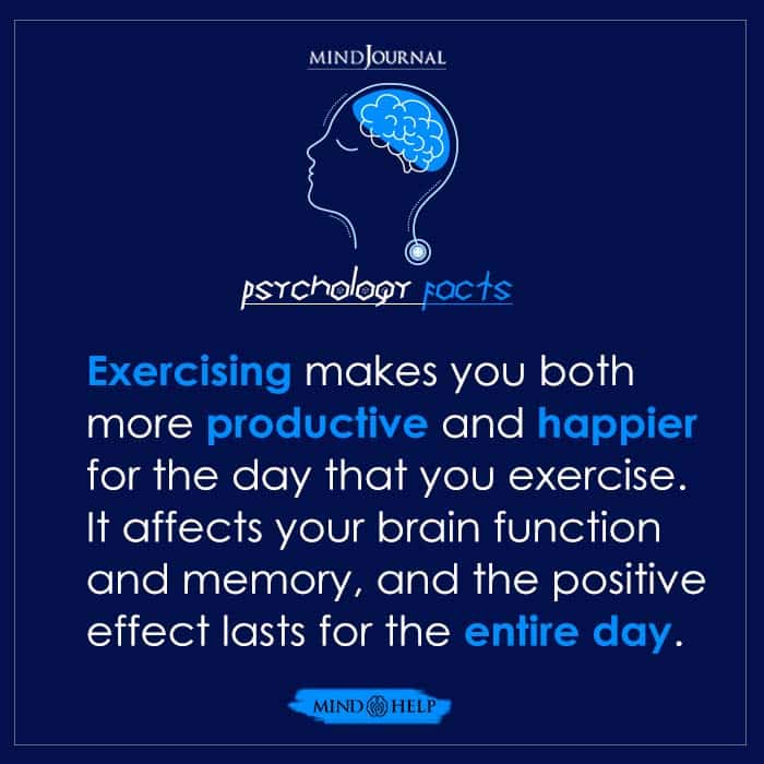 Exercising Makes You Both More