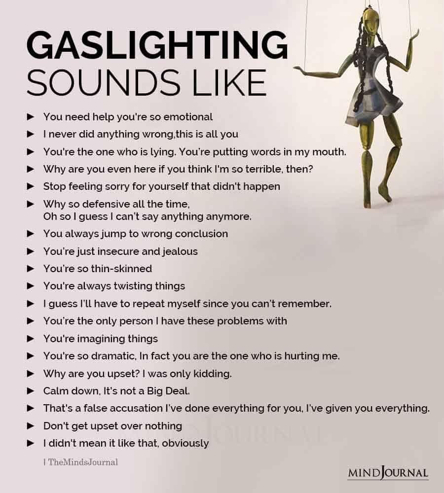 gaslighting narcissists