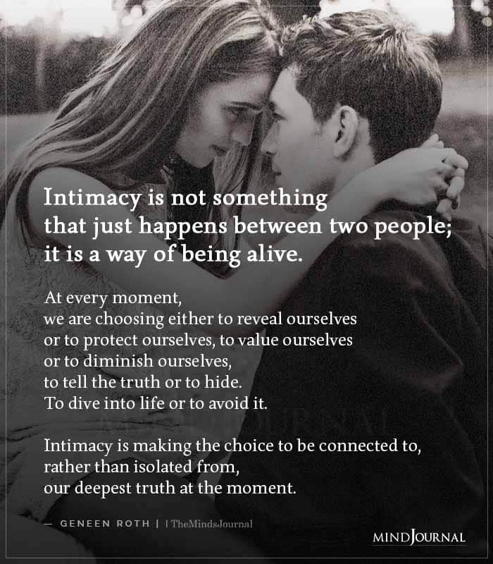 Intimacy Is Not Something That Just Happens