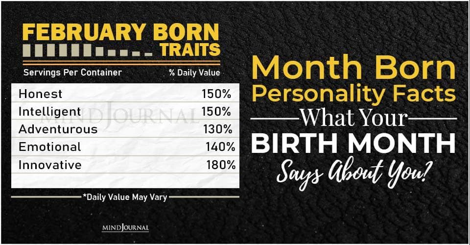 Month Born Personality Facts