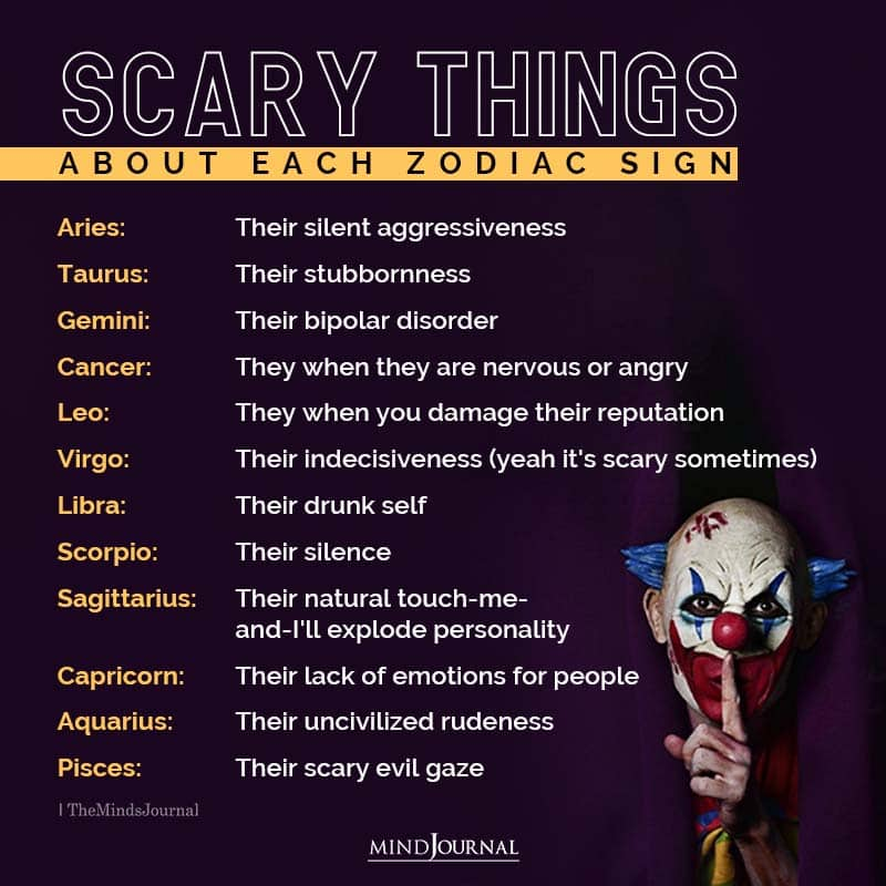 Scary Things About Each Zodiac Sign