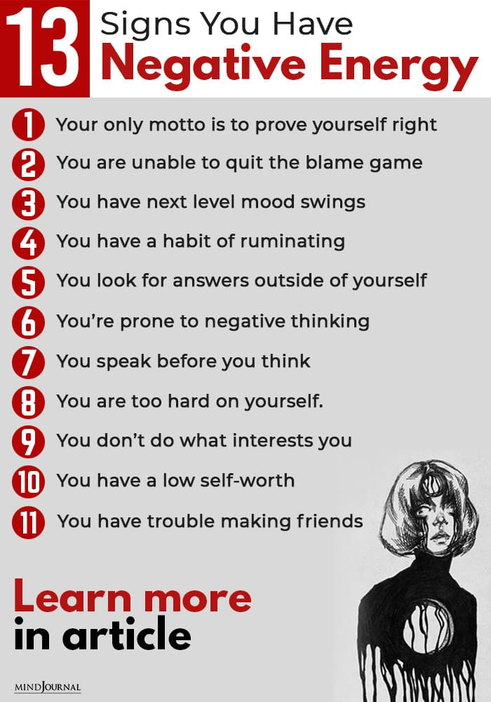 Signs Negative Energy Get Rid Of info