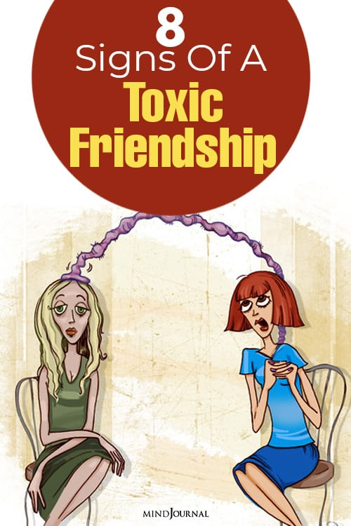 Signs Toxic Friendship pin