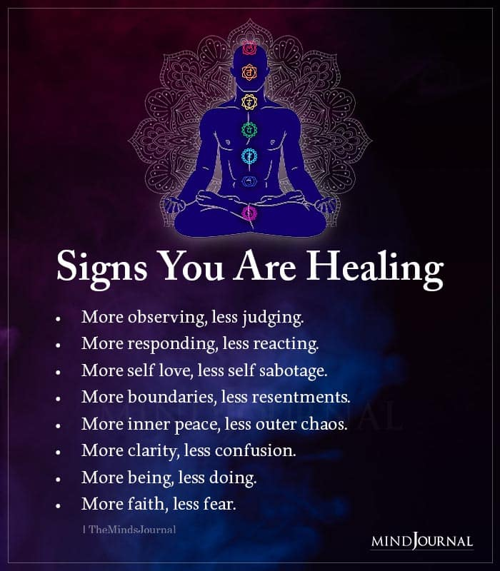 Signs You Are Healing