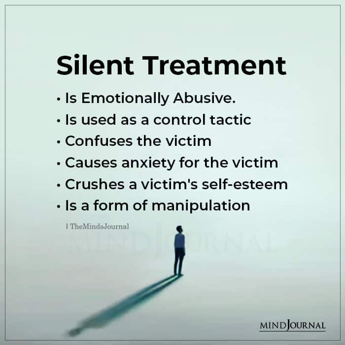 Silent Treatment is Emotionally Abusive