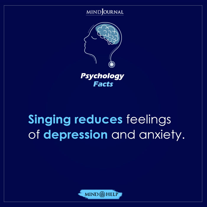 Singing Reduces Feelings of Depression and Anxiety