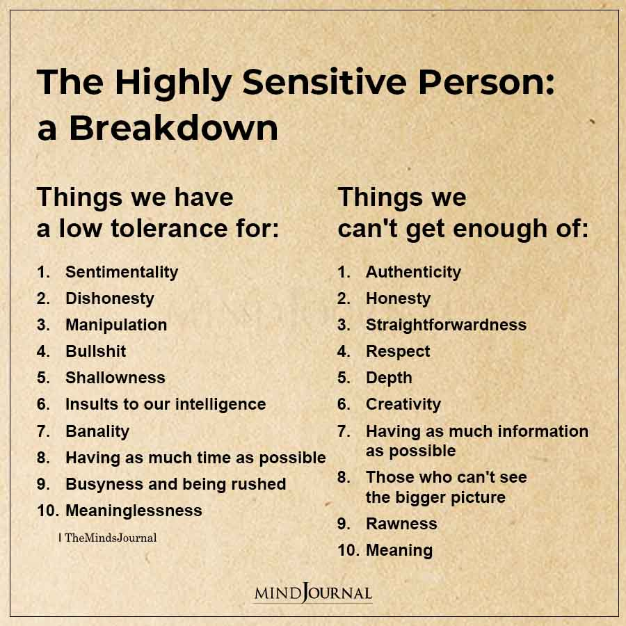 The Highly Sensitive Person A breakdown