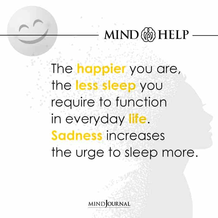 The happier you are
