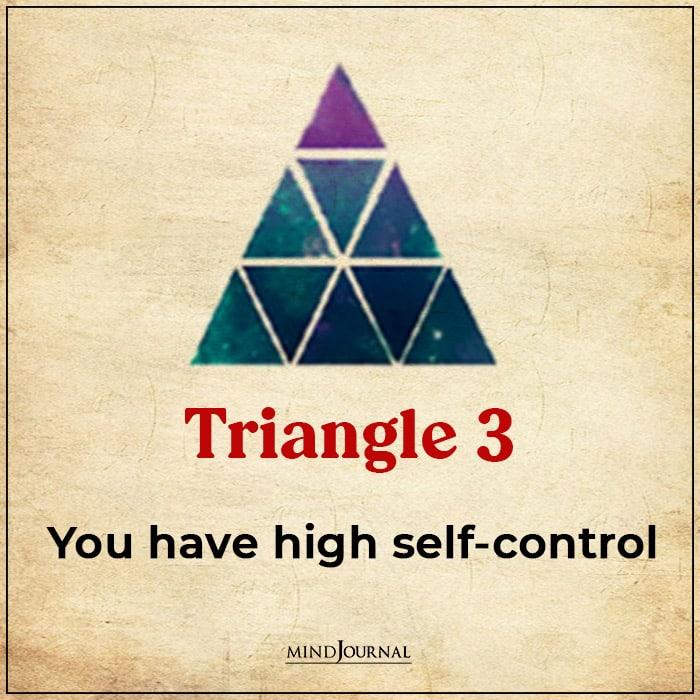 Triangle Choose Main Virtues ambitious high self control