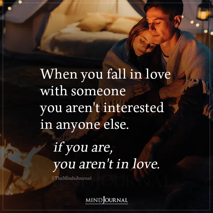 When You Fall In Love With Someone