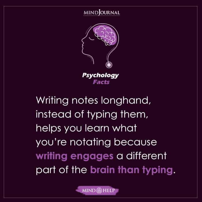 Writing Notes Longhand