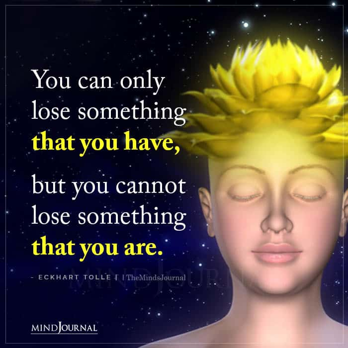 You Can Only Lose Something That You Have