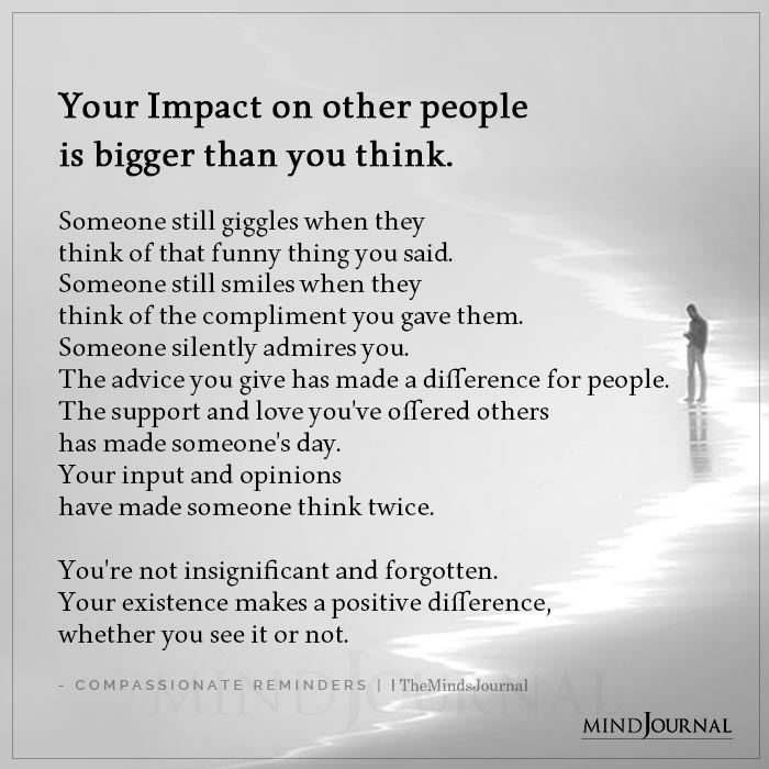 Your Impact On Other People