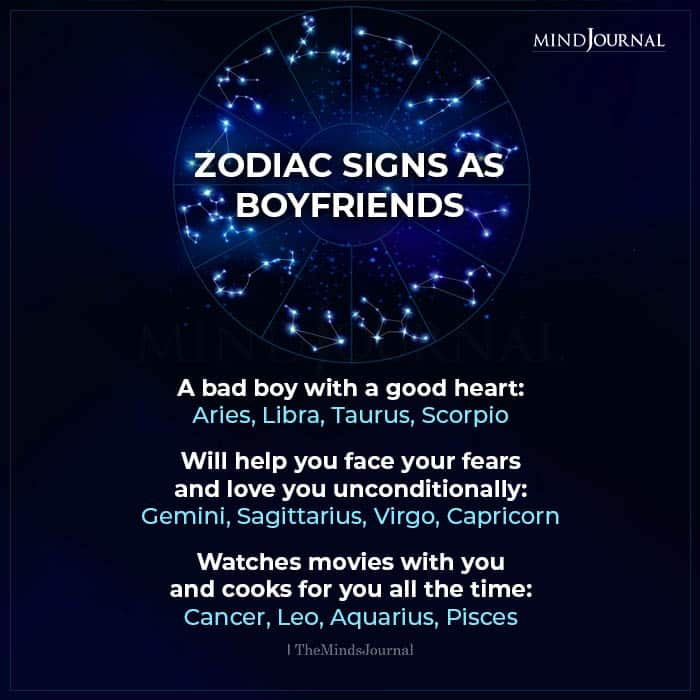 Zodiac Signs As Boyfriends