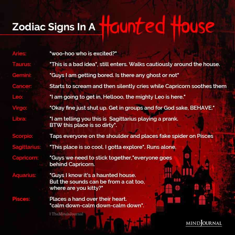 Zodiac Signs In A Haunted House