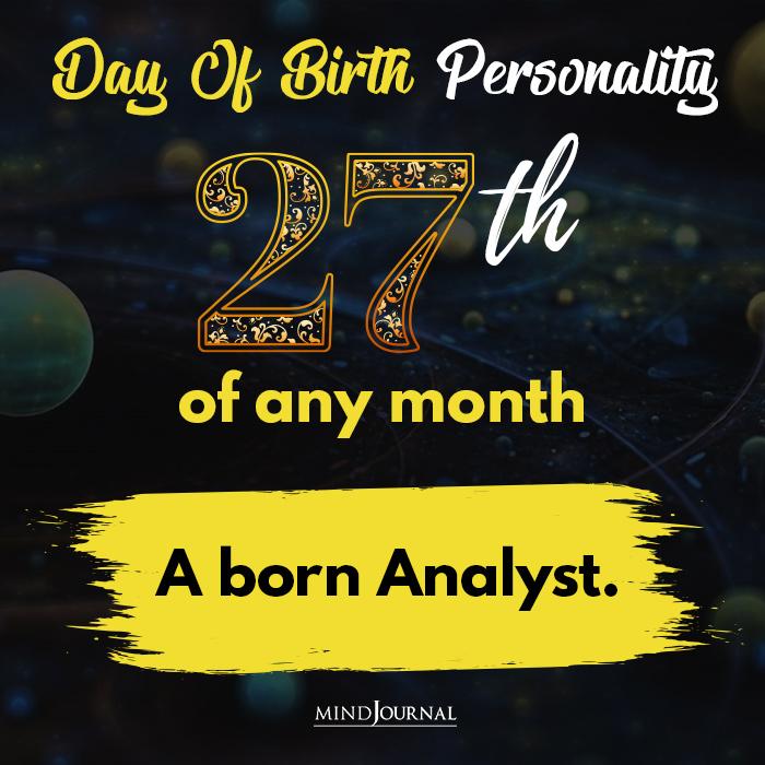 a born analyst