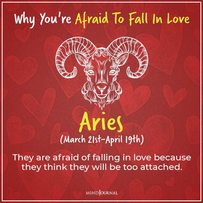 afraid of falling in love aries
