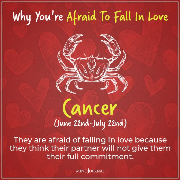 afraid of falling in love cancer