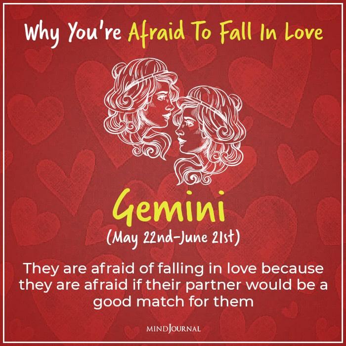 afraid of falling in love gemini