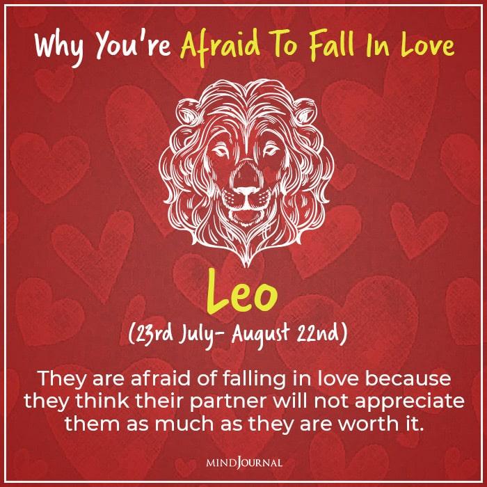 afraid of falling in love leo