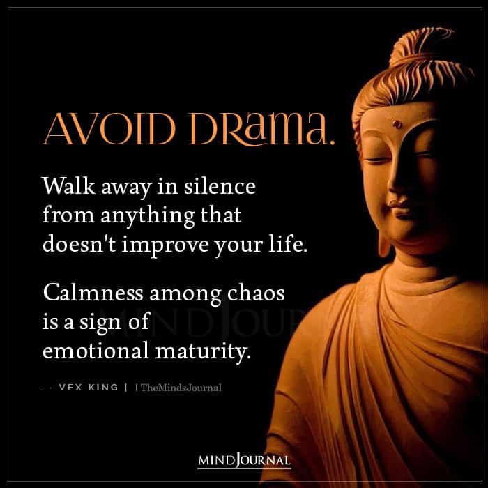 avoid drama