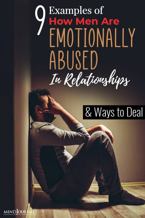 examples of how men are emotionally abused in relationships and ways to deal pin