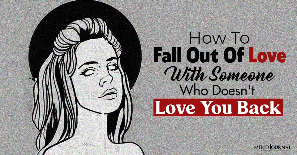 fall out of love with someone