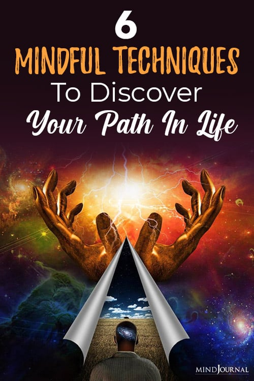mindful techniques to discover your path in life pin
