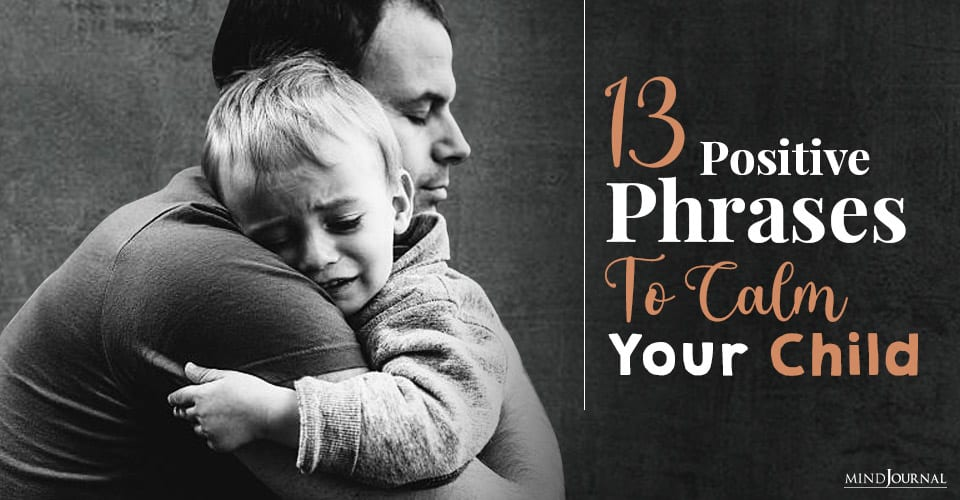 positive phrases to calm your child