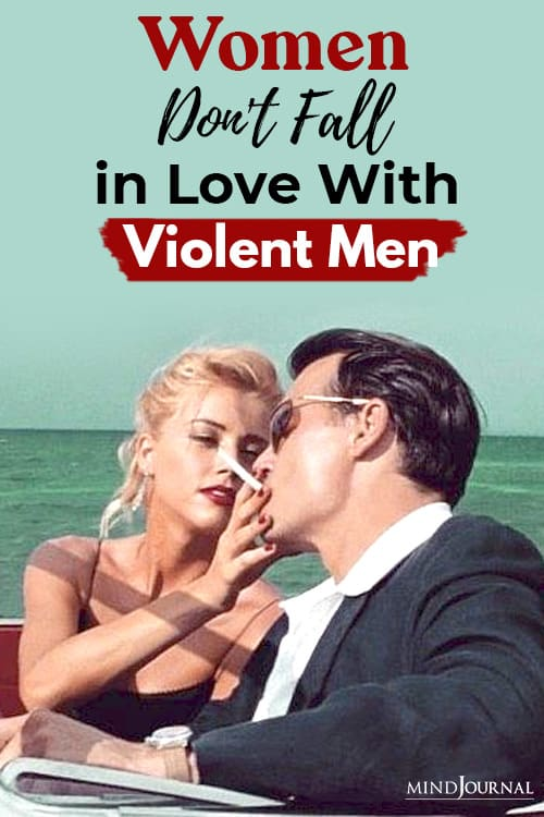women do not fall in love with violent men pin