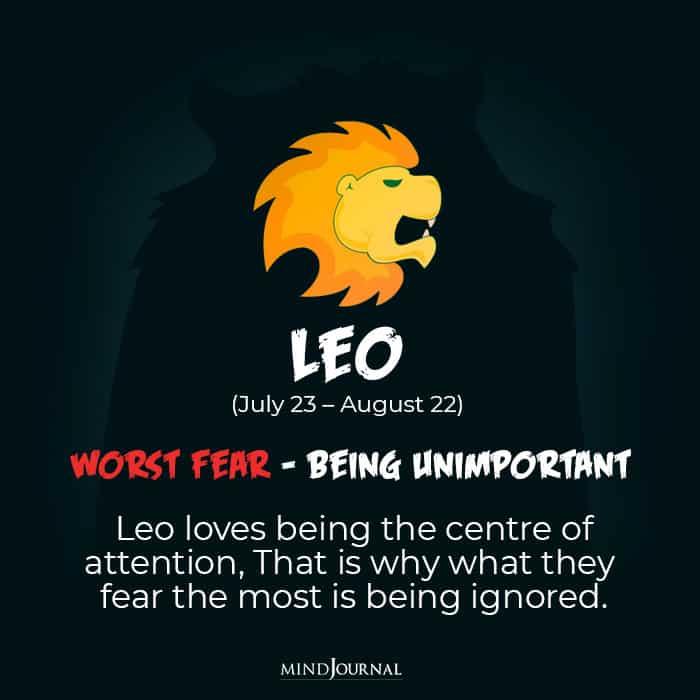 your worst fear leo