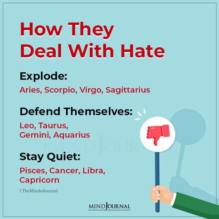 zodiac signs deal with hate