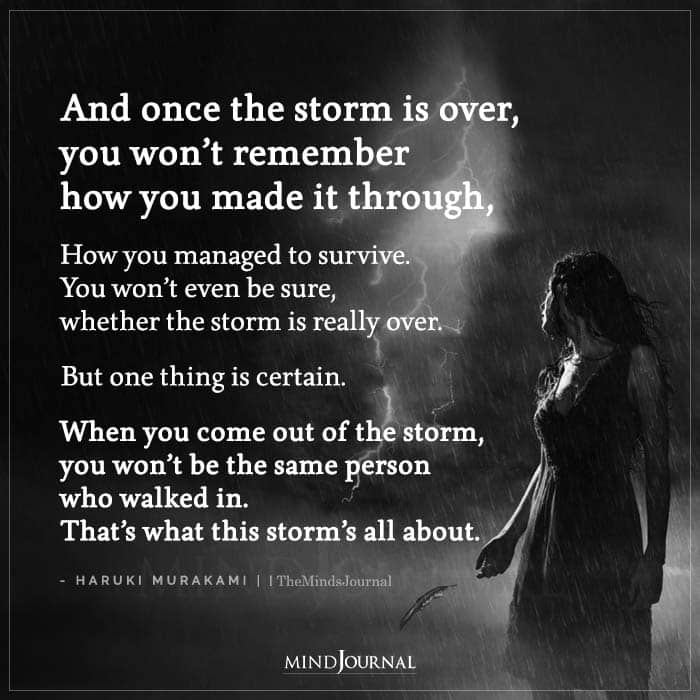 And Once The Storm Is Over You Wont Remember