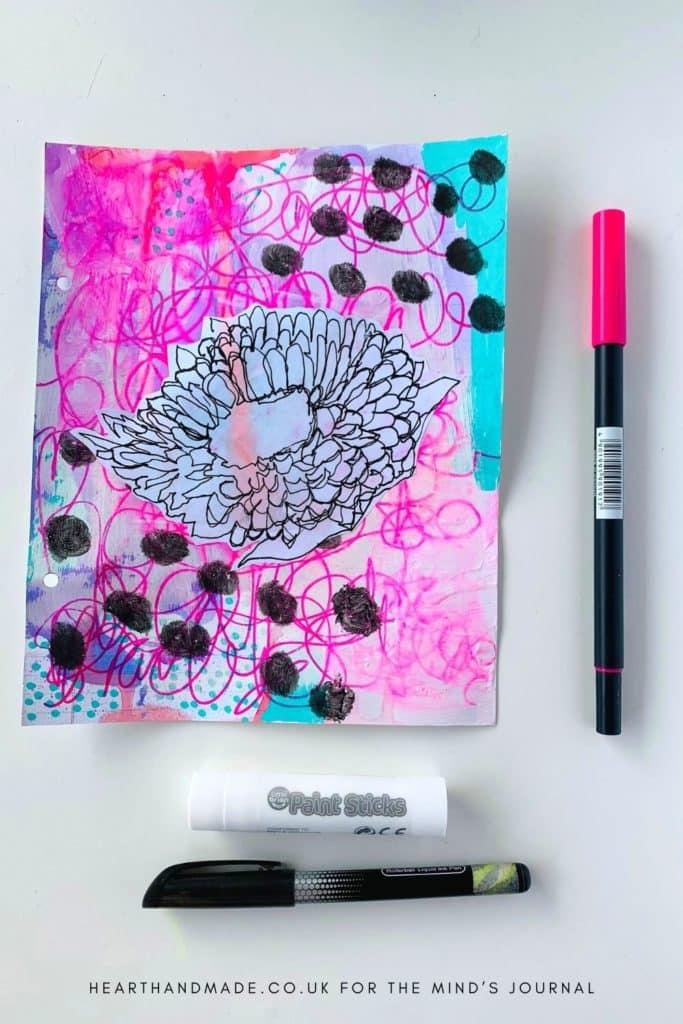 Background Secret Journaling As Art