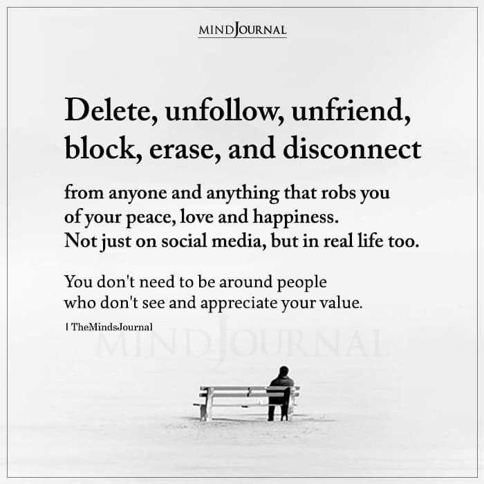 Delete Unfollow Unfriend Block Erase And Disconnect